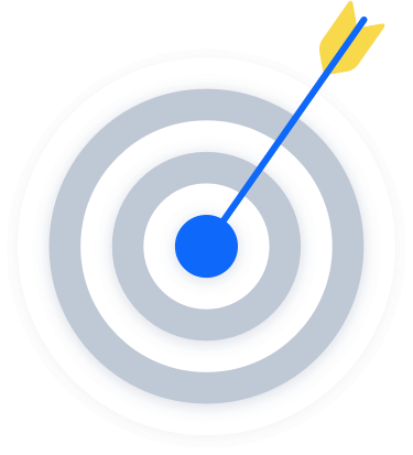 Arrow hitting the center of a target