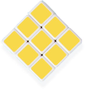 Three by three tiles forming a diamond