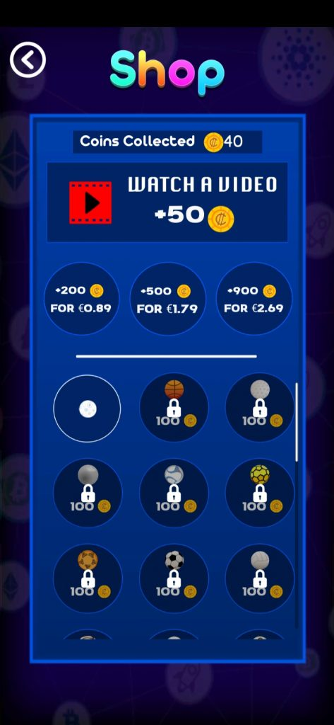 Rewarded Videos to earn extra coins